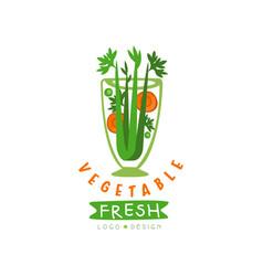 Original logo for natural beverage from vector