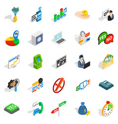 payment icons set isometric style vector image