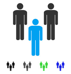 People community flat icon vector