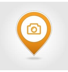 Photo Camera map pin icon vector image