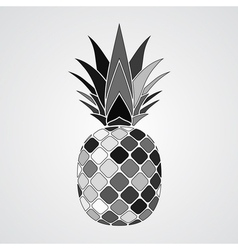 Pineapple gray mosaic icon vector