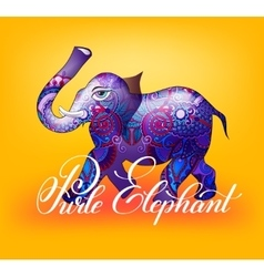 Purle elephant decorative 3d vector