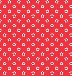 red background white flowers seamless pattern vector image
