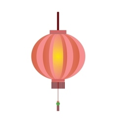 Red chinese lantern flat vector image