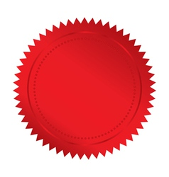 red seal vector image