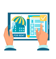 Rent an apartment online real estate agency vector