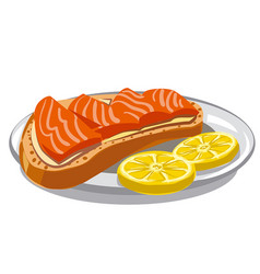 Sandwich with salmon vector
