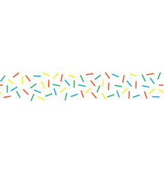 Seamless border with colorful decorative sprinkles vector