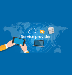 Service provider for internet network business vector