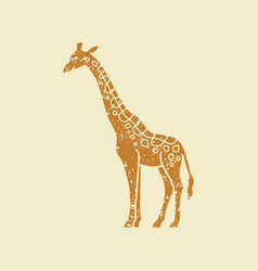 simple icon of a giraffe vector image