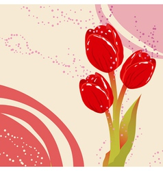 Spring postcard with flowers vector image vector image