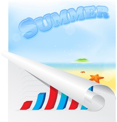 Summer beach poster vector image