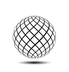 Symmetrical black ball vector