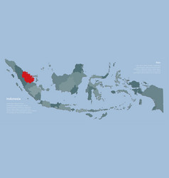 Template indonesia map and province riau vector