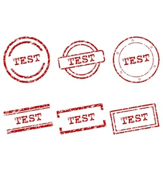 Test stamps vector