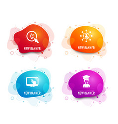 Touch screen networking and energy icons student vector