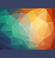 tria orange blue background vector image