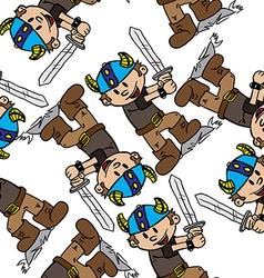 viking boy pattern vector image