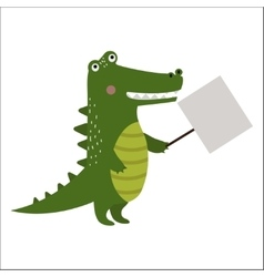 Wild animal crocodile strike with clean plate vector image