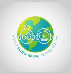 world elder abuse awareness day vector image