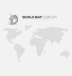 World map template for your infographics reports vector
