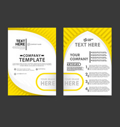 Yellow business flayer concept templates can be vector