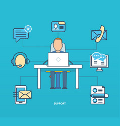 business technology support testimonials review vector image