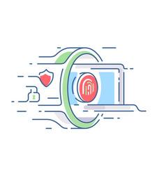 digital security of information vector image vector image