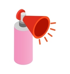 Megaphone icon isometric 3d style vector image vector image