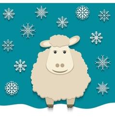 sheep - symbol of 2015 vector image vector image