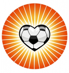 soccer heart vector image vector image