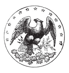 the official seal of the us state of florida in vector image vector image