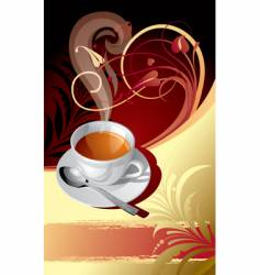 classic background with a cup vector image