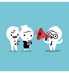 Feedback cartoon with megaphone vector image vector image