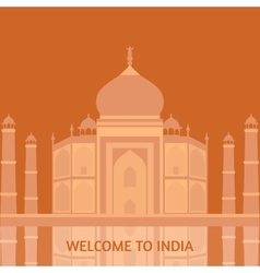 Taj Mahal Temple Landmark in Agra India Indian vector image vector image