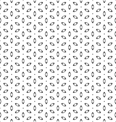Vintage simple seamless black and white flower vector image vector image