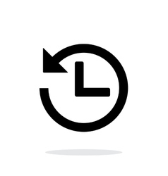 Countdown icon on white background vector image vector image