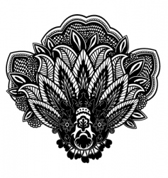 flower paisley vector image vector image