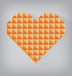 orange retro heart triangle abstract love vector image vector image