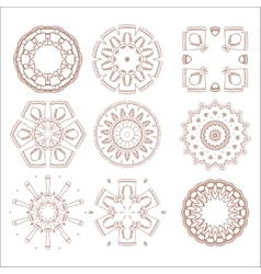 traditional tribal pattern ornaments set soft vector image