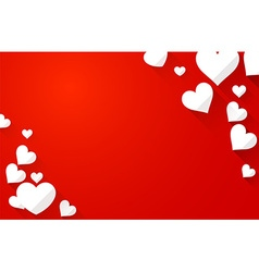 Valentine background with white hearts vector image vector image