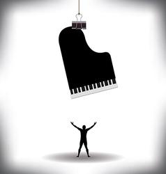 A man worships music vector