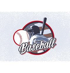 BASEBALL FLAG USA LABEL vector image vector image