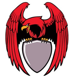 Eagle grip a sign vector