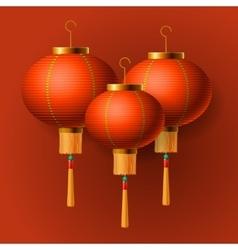 Oriental Chinese New Year lantern vector image