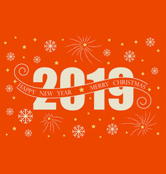2019 happy new year card design happy new vector image