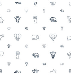African icons pattern seamless white background vector