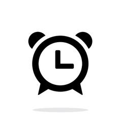 Alarm clock icon on white background vector