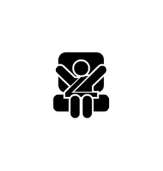 Baby car seat flat icon vector