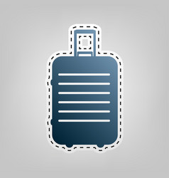 baggage sign blue icon with vector image